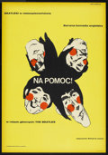 "Movie Posters:Rock and Roll, Help! (United Artists, 1965). Polish One Sheet (23"" X 33""). Rockand Roll.. ..."