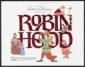 "Movie Posters:Animated, Robin Hood (Buena Vista, R-1982). Half Sheet (22"" X 28"").Animated.. ..."