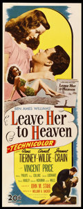 "Movie Posters:Film Noir, Leave Her to Heaven (20th Century Fox, 1945). Insert (14"" X 36"").Film Noir.. ..."