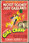 "Movie Posters:Musical, Girl Crazy (MGM, 1943). One Sheet (27"" X 41"") Style C. Musical....."