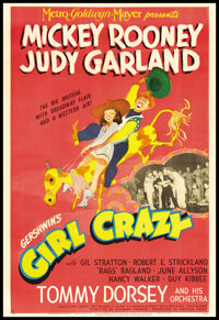 "Girl Crazy (MGM, 1943). One Sheet (27"" X 41"") Style C. Musical"