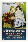 "Movie Posters:Western, Blaze Away (Di Lorenzo, 1922). One Sheet (27"" X 41""). Western.. ..."