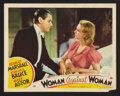"Movie Posters:Comedy, Woman Against Woman (MGM, 1938). Lobby Card (11"" X 14""). Comedy.. ..."