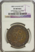 Coins of Hawaii: , 1883 $1 Hawaii Dollar--Improperly Cleaned--NGC. XF Details. NGCCensus: (37/208). PCGS Population (104/357). Mintage: 500,0...