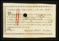 Colonial Notes:Massachusetts, Massachusetts Treasury Certificate, Boston April 1, 1786. Very Fine - Extremely Fine....