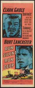"Movie Posters:War, Run Silent, Run Deep (United Artists, 1958). Pressbook (MultiplePages, 13.5"" X 18""), Lobby Card (11"" X 14""), and Insert (14...(Total: 3 Items)"