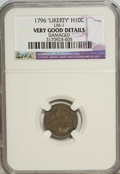 Early Half Dimes: , 1796 H10C LIKERTY--Damaged--NGC. Very Good Details. LM-1. PCGSPopulation (0/29). Numismedia Wsl. Pric...