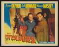 "Movie Posters:War, The Invaders (Columbia, 1942). Lobby Card (11"" X 14""). War.. ..."