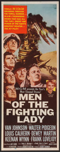 """Movie Posters:War, Men of the Fighting Lady (MGM, 1954). Insert (14"""" X 36""""). War.. ..."""