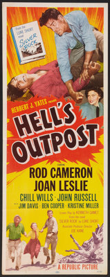"Hell's Outpost (Republic, 1954). Insert (14"" X 36""). Western"