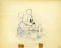 Animation Art:Production Drawing, Mickey Plays Papa Animation Production Drawing Original Art(Disney, 1934)....
