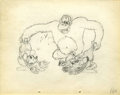 Animation Art:Production Drawing, The Pet Store Animation Production Drawing Original Art(Disney, 1933)....
