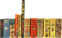 Big Little Book Mickey Mouse Group of 12 (Whitman) Condition: Average FN