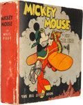 Platinum Age (1897-1937):Miscellaneous, Big Little Book Mickey Mouse the Mail Pilot American Oil Premium (Whitman, 1933) Condition: VG....