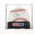 Autographs:Baseballs, Greg Maddux Single Signed Baseball PSA NM-MT+ 8.5....