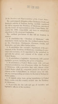 Books:Non-fiction, Objections by Representatives of the Five Civilized Tribes AgainstOrganizing the Territory of Oklahoma. [Washington]: [No p...