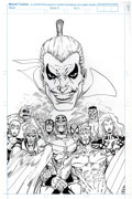 Original Comic Art:Covers, Ron Lim Infinity War Previews Cover Original Art (1992)....