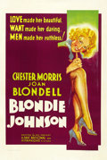 "Movie Posters:Drama, Blondie Johnson (Warner Brothers, 1933). One Sheet (27"" X 41"")...."