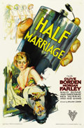 "Movie Posters:Drama, Half Marriage (RKO, 1929). One Sheet (27"" X 41""). ..."