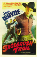 "Movie Posters:Western, Sagebrush Trail (Lone Star, R-1943). One Sheet (27"" X 41""). ..."