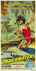 "Movie Posters:Drama, Underwater! (RKO, 1955). Australian Three Sheet (40"" X 80""). ..."