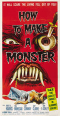 """Movie Posters:Horror, How to Make a Monster (American International, 1958). Three Sheet (41"""" X 81""""). ..."""