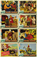 """Movie Posters:Western, Western Courage (Columbia, 1935). Lobby Card Set of 8 (11"""" X 14"""").... (Total: 8 Items)"""
