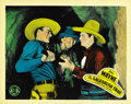 "Movie Posters:Western, Sagebrush Trail (Monogram, 1933). Lobby Cards (2) (11"" X 14"").... (Total: 2 Items)"