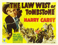 "Movie Posters:Western, Law West of Tombstone (RKO, 1938). Half Sheet (22"" X 28"")...."
