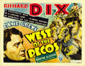"Movie Posters:Western, West of the Pecos (RKO, 1935). Title Lobby Card (11"" X 14"") and Lobby Card (11"" X 14"").... (Total: 2 Item)"