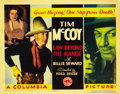 "Movie Posters:Western, Law Beyond the Range (Columbia, 1935). Title Lobby Card (11"" X 14"")and Lobby Card (11"" X 14"").... (Total: 2 Items)"