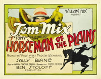 """Horseman of the Plains (Fox, 1928). Title Lobby Card and Lobby Cards (2) (11"""" X 14""""). ... (Total: 3 Items)"""