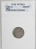 Early Half Dimes, 1795 H10C --Scratched, Cleaned--ANACS. VF30 Details....