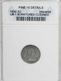 Early Half Dimes, 1800 H10C --Scratched, Cleaned--ANACS. Fine 15 Details....