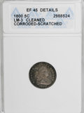Early Half Dimes, 1800 H10C LIBEKTY--Cleaned, Corroded, Scratched--ANACS. XF45Details....