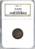 Proof Indian Cents, 1885 1C PR66 Brown NGC....
