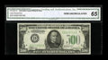 Small Size:Federal Reserve Notes, Fr. 2201-D $500 1934 Federal Reserve Note. CGA Gem Uncirculated 65.. ...