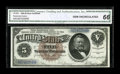 Large Size:Silver Certificates, Fr. 263 $5 1886 Silver Certificate CGA Gem Uncirculated 66....