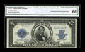 Large Size:Silver Certificates, Fr. 282 $5 1923 Silver Certificate CGA Gem Uncirculated 66....