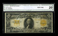 Large Size:Gold Certificates, Fr. 1187 $20 1922 Gold Certificate Star Note CGA Very Fine 20....