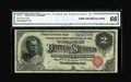 Large Size:Silver Certificates, Fr. 241 $2 1886 Silver Certificate CGA Gem Uncirculated 66....