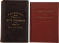 Books:Non-fiction, Pair of Rare Texas Government Reference Works, including:... (Total: 2 Items)