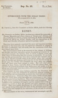 Books:Non-fiction, [31st Congress, 2nd Session, House of Representatives]. ReportNo. 37. Intercourse With the Indian Tribes. [To accompany...
