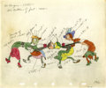 "Animation Art:Production Drawing, Woodland Café ""Jitterbugs"" Production Drawing Animation Art(Walt Disney, 1937)...."
