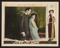 "Free to Love (Al Lichtman Corporation, 1925). Lobby Card (11"" X 14""). Melodrama"