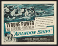 "Movie Posters:Adventure, Abandon Ship! (Columbia, 1957). Lobby Card Set of 8 (11"" X 14"").Adventure.. ... (Total: 8 Items)"