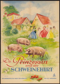 """The Princess and the Swineherd (Jugendfilm-Verleigh, 1953). German A1 (23"""" X 33""""). Family"""