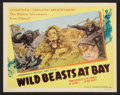 "Movie Posters:Documentary, Wild Beasts at Bay (Cosmopolitan, 1947). Lobby Card Set of 8 (11"" X 14""). Documentary.. ... (Total: 8 Items)"