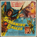 "Movie Posters:War, Screaming Eagles (Allied Artists, 1956). Six Sheet (81"" X 81"") andThree Sheet (41"" X 81""). War.. ... (Total: 2 Item)"