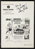 "Movie Posters:Adventure, Tarzan the Ape Man (MGM, 1959). Autographed Pressbook (MultiplePages, 12"" X 17""). Adventure.. ..."